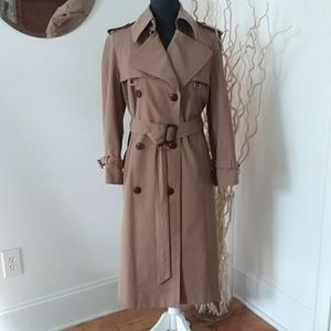 ETIENNE AIGNER TRENCH COAT WITH LEATHER TRIM